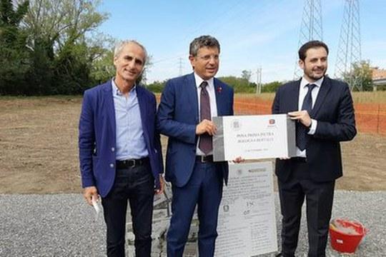 Posa della prima pietra di un nuovo insediamento nel comparto Bertalia-Lazzaretto